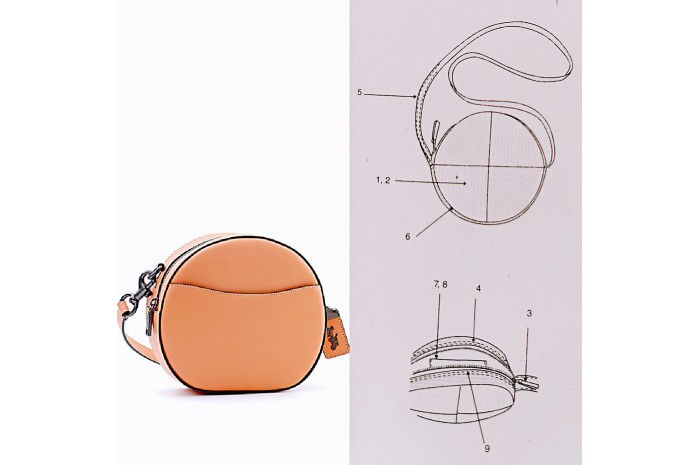 KOMELY HANDBAG ADULT CRAFT CLASSES –Sewing Instructions     Circle Pochette